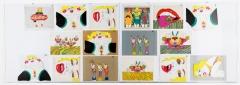Keiichi Tanaami · Killer Joe's, Fondation Speerstra, Apples, Ausstellungsansicht (zur Herstellung des Films ‹Good Bye Elvis›, 1975, 7'05', verwendete Tafeln). Foto: Annick Wetter