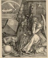 Albrecht Dürer · Melencolia I, 1514, Kupferstich auf Ripppapier, zweiter Zustand von zwei, 240x189mm, Musée Jenisch Vevey, Cabinet cantonal des estampes, fonds Pierre Decker. Foto: C. Bornand