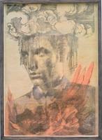 Pascal Häusermann · Megalomania, Nr. 8, 2009, Monotypie, Ölfarbe, Schellack, 43x29cm