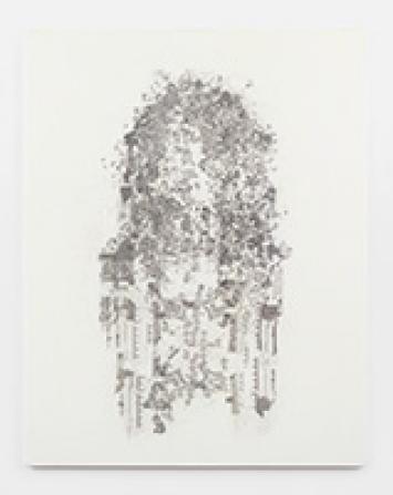 Guillermo Kuitca · Encyclopédie III, 2010, Acryl und Grafit auf Leinwand, 196x151cm, Courtesy Hauser& Wirth. Foto: Alex Delfanne