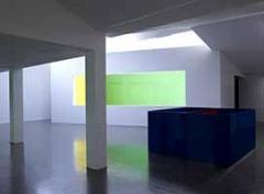 Olivier Mosset-Collaborations · Ausstellungsansicht, 2014. Foto: Marc Domage