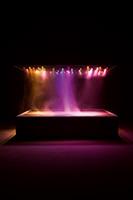 L'Expédition scintillante, Act II (Light Box), 2002, Light box Skulptur, Holz und Stahl, schwarzer Rost, Licht, Rauchanlage, Dimmer, Alcorn McBride plug and play, Musik: Gymnopédies 3 et 4 von Erik Satie (1888) dirigiert von Claude Debussy, 200x190x155cm, Ed. 3+2 AP. ©ProLitteris. Foto: Andrea Rossetti