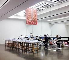 Kenneth Goldsmith · printingtheinternet, 2013, Tumblr Blog, Ausstellungsansicht Kunsthalle Düsseldorf, 2014