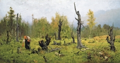Vassili Polenow · Der verbrannte Wald, 1881, Öl auf Leinwand, 89,7x170cm, Courtesy Staatliche Tretjakow-Galerie, Moskau