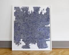 Mette Stausland · Moving Parts 12, 2014, Bleistift auf Papier, 69x54cm gerahmt ©ProLitteris. Foto: Tom Bisig