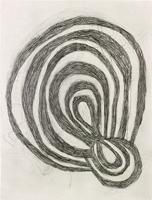 Mette Stausland · Reading Rivers III, 2013, Zeichnung, Collage, Wachskreide auf Papier, 183x163cm gerahmt ©ProLitteris. Foto: Tom Bisig