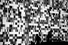 Ryoji Ikeda, test pattern (live set), audiovisuelle Performance, 2008, Computergrafik, Programmierung: Tomonaga Tokuyama. Foto: Liz Hingley