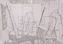 Anton Egloff · Besuch, 1999-2007, 32 Zeichnungen, Bleistift, Kugelschreiber und Lack auf Papier, 40x57,1cm und 40,4x57,8cm