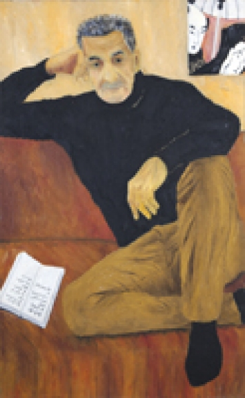 Dieter Hall · Porträt Daniel Schmid, 1998, 160x96 cm, Öl auf Leinwand ©ProLitteris. Foto: Christian Schwarz