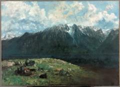 Gustave Courbet · Grand panorama des Alpes, les Dents du Midi, 1877, Öl auf Leinwand, 151,2x210,2cm, Courtesy The Cleveland Museum of Art, John L. Severance Fund und verschiedene Donatoren
