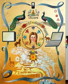 Milan Kunc · Mandala, 2012, Öl und Blattgold auf Leinwand, 240x190cm, Courtesy Galerie Andrea Caratsch, Zürich/St. Moritz