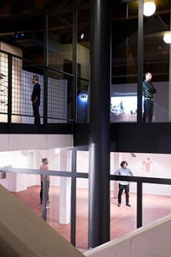 Ausstellungsansicht, Zimmermannhaus, 2014. Foto: Livio Baumgartner