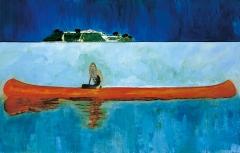 100 Years Ago (Carrera), 2001, Öl auf Leinwand, 229x359cm, Centre Pompidou, Musée national d'art moderne/Centre de création industrielle, Paris ©ProLitteris. Foto: Jochen Littkemann