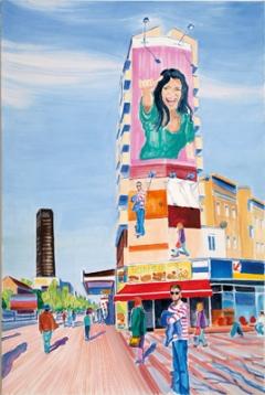 Abgefacebookt , 2011, Öl auf Leinwand, 120x80cm. Foto: Lukas Dostal