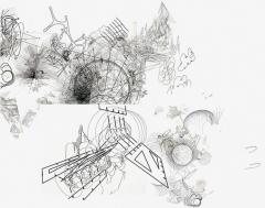 Claire Malrieux · Atlas du temps présent, 2014, Zeichnungs-Algorithmus in Kooperation mit Alexandre Dubreuil und Nicolas Weyrich