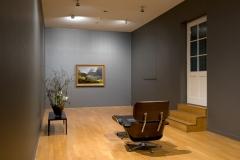Johann Gottfried Steffan · Mittag am Klöntalersee, 1875; Ray und Charles Eames, Lounge Chair, 1956; Caroline von Gunten, Volition, 2014, Audioarbeit. Foto: Viktor Kolibàl