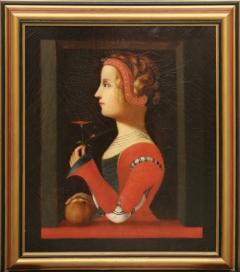 Anonym · Porträt Lauras (alias Laure de Sade, geb. de Noves) mit roter Blume, 18.Jh., aus der Sammlung Jacques-François de Sades (Onkel von Sade). Foto: Naomi Wenger