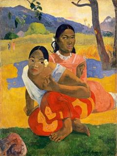 Paul Gauguin · ‹Nafea faaipoipo›, Wann heiratest Du? 1892, Öl auf Leinwand, 105x77,5cm, Sammlung Rudolf Staechelin. Foto: Kunstmuseum Basel, Martin P. Bühler