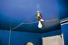 William Eggleston · O. T. (Blue Ceiling), 1970-1973, Courtesy Eggleston Artistic Trust.
