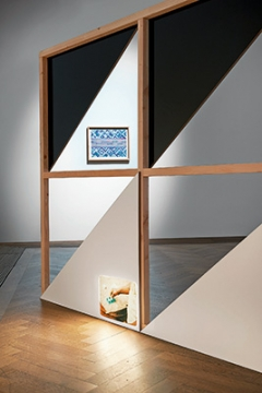 Vincent Meessen/Thela Tendu · Patterns for (Re)cognition,2015, Installationsansicht Kunsthalle Basel. Foto: Philipp Hänger