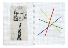 Jean-Luc Manz · aus: Cahier 7, 2003-2005, Acryl, Bleistift und Collage, 29,5x21cm, Courtesy Musée Jenisch Vevey