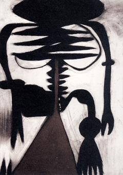 Takashi Shuji, Knochen, Pastell auf Papier, 79,1x54,7cm