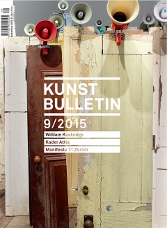 TITELBILD · Kader Attia · Asesinos! Asesinos!, 2014, Installation, 134 Türen, 47 Megafone (Detail), Courtesy Lehmann Maupin. Foto: Elisabeth Bernstein