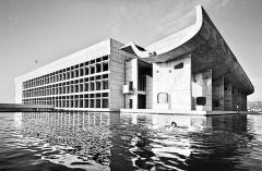 Chandigarh, Parlamentsgebäude von Le Corbusier, Aufnahme 1968. Foto: Jürg Gasser