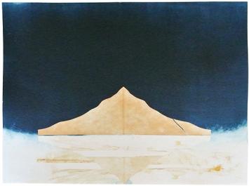 Francine Mury · tre vedute, Monotypien auf Zerkall-Papier, 108x76cm, 2015, Druck: Atelier Impressione Locarno