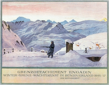 August Meinrad Bächtiger · Grenzdetachement Engadin, 1915/16
