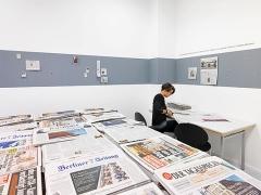 Gustav Metzger · Mass Media- Today and Yesterday, 1972/2015. Foto: Jens Ziehe