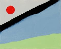 Etel Adnan · Ohne Titel, 2010. Öl auf Leinwand, 24x30cm, Courtesy Sfeir-Semler Gal., Hamburg/Beirut