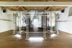 Andrea Vogel · Behind That Curtain, 2015, Ausstellungansicht Kulturraum am Klosterplatz St.Gallen