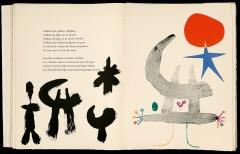 Tristan Tzara · Parler Seul, Gedicht, Paris: Maeght, 1950, Lithografie von Joan Miró, Fonds Michel Leiris. Paris, Bibliothèque littéraire Jacques Doucet ©ProLitteris
