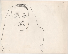 Andy Warhol · O.T. (Greta Garbo), um 1955, Bleistift, Tinte auf Papier, 28x35,6 cm, The Andy Warhol Foundation for Visual Arts Inc. ©ProLitteris, Courtesy Daniel Blau München.