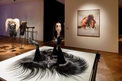 Olivier Schawalder · Les Tricophiles, 2013, Ausstellungsansicht Gewerbemuseum Winterthur. Foto: Michael Lio