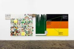 Rochelle Feinstein · In Anticipation of t Women's History Month: Selected Works, 2016, Ausstellungsansicht Centre d'art contemporain Genève. Foto: Gunnar Meier