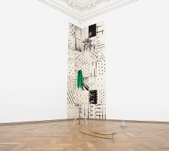 Angela Cerullo & Giorgio Bloch · ...there's always one too many arms, 2015, mixed media, Masse variabel, Kunsthalle Basel