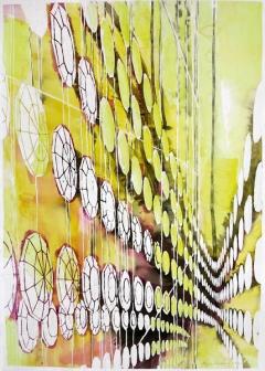 Maja Vonmoos · Cosmic Order, 2015, Aquarell auf Büttenpapier