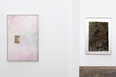 Martin Widmer · Construction du dos quatre: sertir und Objet VII ‹Miroir› n° 1- V3, 2016, Ausstellungsansicht Centre de la Photographie, Genève