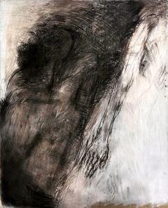 Heinz Egger · Der Arm, Kreide, Kohle und Öl auf Papier