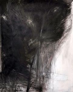 Heinz Egger · Aus der Tiefe- Tanz, 1985/2014, Kreide, Kohle und Öl auf, Papier, 190x150 cm