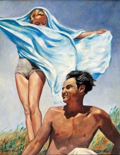 Francis Picabia · Printemps, um 1942-1943, Öl auf Leinwand, 115x90cm ©ProLitteris, Courtesy Michael Werner Gallery, New York, London, und Märkisch Wilmersdorf