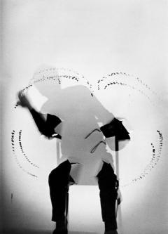 Milan Grygar · Performance auf dem OFF-OFF Festival in Gent, 1986. Foto: ZKM