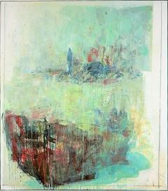Cesare Lucchini · Quel che rimane - Lampedusa (Was bleibt - Lampedusa), 2010, Öl auf Leinwand, 284x250,5cm