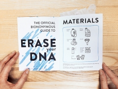 Heather Dewey-Hagborg / Jarad Solomon · The official Bionymous Guide to replace your DNA, 2015