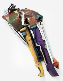 John Chamberlain · Chamouda, 1975, bemalter, verchromter Stahl, 165,1x175,3x58,4cm, Courtesy Gagosian Gallery ©ProLitteris. Foto: Robert McKeever
