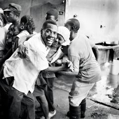 Thomas Kern · Rue des Remparts, Port-au-Prince, 1997, Schwarz-Weiss-Inkjet-Print ©ProLitteris