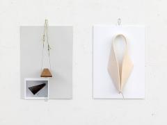 ilk.egg_contrapunctus, 2016, Papier, Baumwolle, Gummi, Inkjet, Filz, Holz, 29,7x50cm, Courtesy Galerie Greta Meert, Brüssel ©ProLitteris. Foto: Charles Duprat