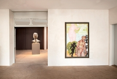 Markus Lüpertz · Die Avantgarde der Kontinuität, 2016, Ausstellungsansicht Galerie Knoell Basel ©ProLitteris